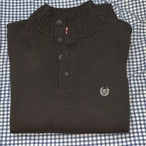 Chaps brown sweater